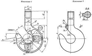 заготовка крюка однорогого - схема