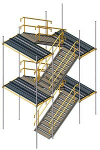 лестничные вышки из алюминия или стали